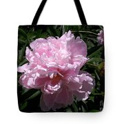 Pale Pink Peony Watercolor Effect Tote Bag