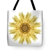Pale Yellow Gerbera Daisy I Flower Mandala White Tote Bag