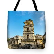 Palenque Palace Tower Tote Bag