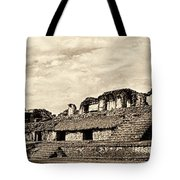 Palenque Panorama Sepia Tote Bag