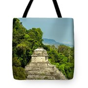Palenque Temple Tote Bag