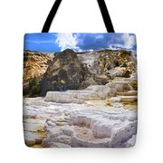 Palette Spring Terrace Panorama - Yellowstone National Park Wyoming Tote Bag