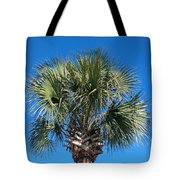 Palm Against Blue Sky Tote Bag