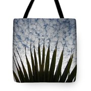 Palm And Clouds Tote Bag