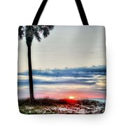 Palm And Sun Tote Bag