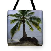 Palm At The Edge Of The Sea Number Two Tote Bag