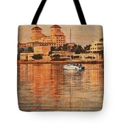 Palm Beach At Golden Hour Tote Bag