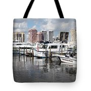 Palm Beach Docks Tote Bag