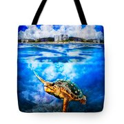 Palm Beach Under And Over Tote Bag