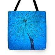 Palm Blue Tote Bag