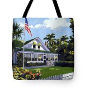 Palm Cottage Naples Florida Tote Bag