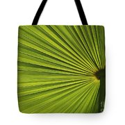 Palm Fron Abstract Tote Bag