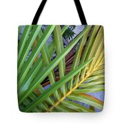Palm Leaf Abstract Tote Bag