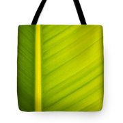 Palm Leaf Macro Abstract Tote Bag
