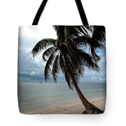 Palm On The Beach Tote Bag