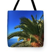 Palm Over The Sea Tote Bag
