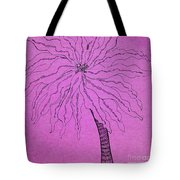 Palm Purple Tote Bag