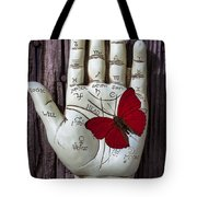 Palm Reading Hand And Butterfly Tote Bag