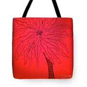 Palm Red Tote Bag