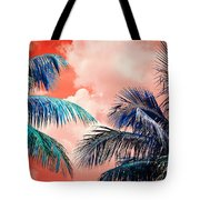 Palmscape Red Tote Bag
