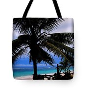 Palm Shadows Tote Bag