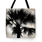 Palm Sihlouette Tote Bag