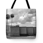 Palm Springs City Hall Bw Palm Springs Tote Bag