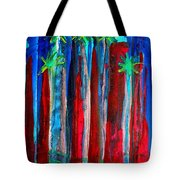 Palm Springs Nocturne Original Painting Tote Bag