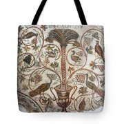 Palm Tree And Birds Tote Bag
