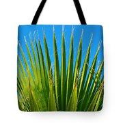 Palm Tree And Blue Sky 2/06 Tote Bag