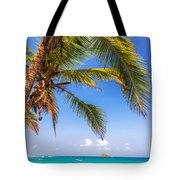 Palm Tree And Caribbean Tote Bag