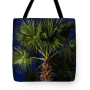 Palm Tree At Night Tote Bag