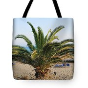 Palm Tree By The Beach Tote Bag