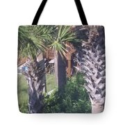 Palm Tree Scenery Tote Bag