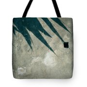 Palm Tree Shadow On Wall With Holes Tote Bag