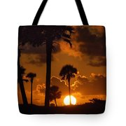 Palm Tree Sunrise In Gulf Shores Tote Bag