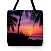Palm Tree Sunset In Paradise Tote Bag