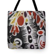 Palm Tree With Two Keg Of Palm Wine.  Tote Bag