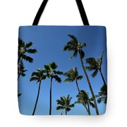 Palm Trees Against A Clear Blue Sky Tote Bag