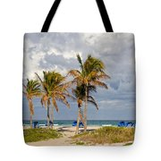 Palm Trees At The Beach Tote Bag