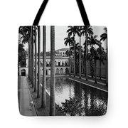 Palm Trees Bordering A Pool Tote Bag