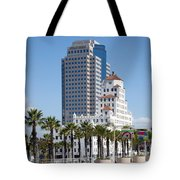 Palm Trees In Downtown Long Beach Tote Bag