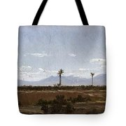Palm Trees In Elche Tote Bag