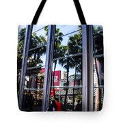 Palm Trees In Reflection 2 Tote Bag