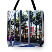 Palm Trees In Reflection 3 Tote Bag