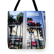 Palm Trees In Reflection Tote Bag