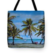 Palm Trees In The Keys Tote Bag