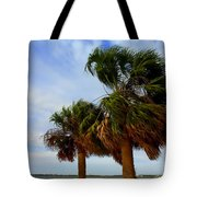 Palm Trees In The Wind Tote Bag