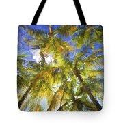 Palm Trees Of Aruba Tote Bag