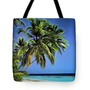 Palm Trees On Little Palm Island Filtered Tote Bag